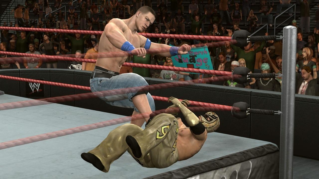 John Cena - WWE SmackDown vs. Raw 2010 - Roster Hammer Throw Technique