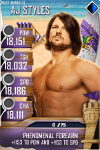 SuperCard AJStyles S4 19 WrestleMania34 BeachBash