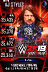 SuperCard AJStyles S4 20 Goliath RingDom WWE2K19