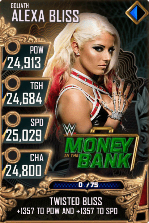 SuperCard AlexaBliss S4 20 Goliath MITB