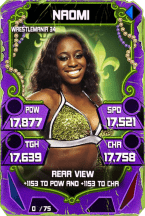 SuperCard Naomi S4 19 WrestleMania34 Throwback