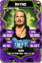 SuperCard Rhyno S4 19 WrestleMania34 Throwback