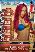 SuperCard SashaBanks S4 20 Goliath BeachBash