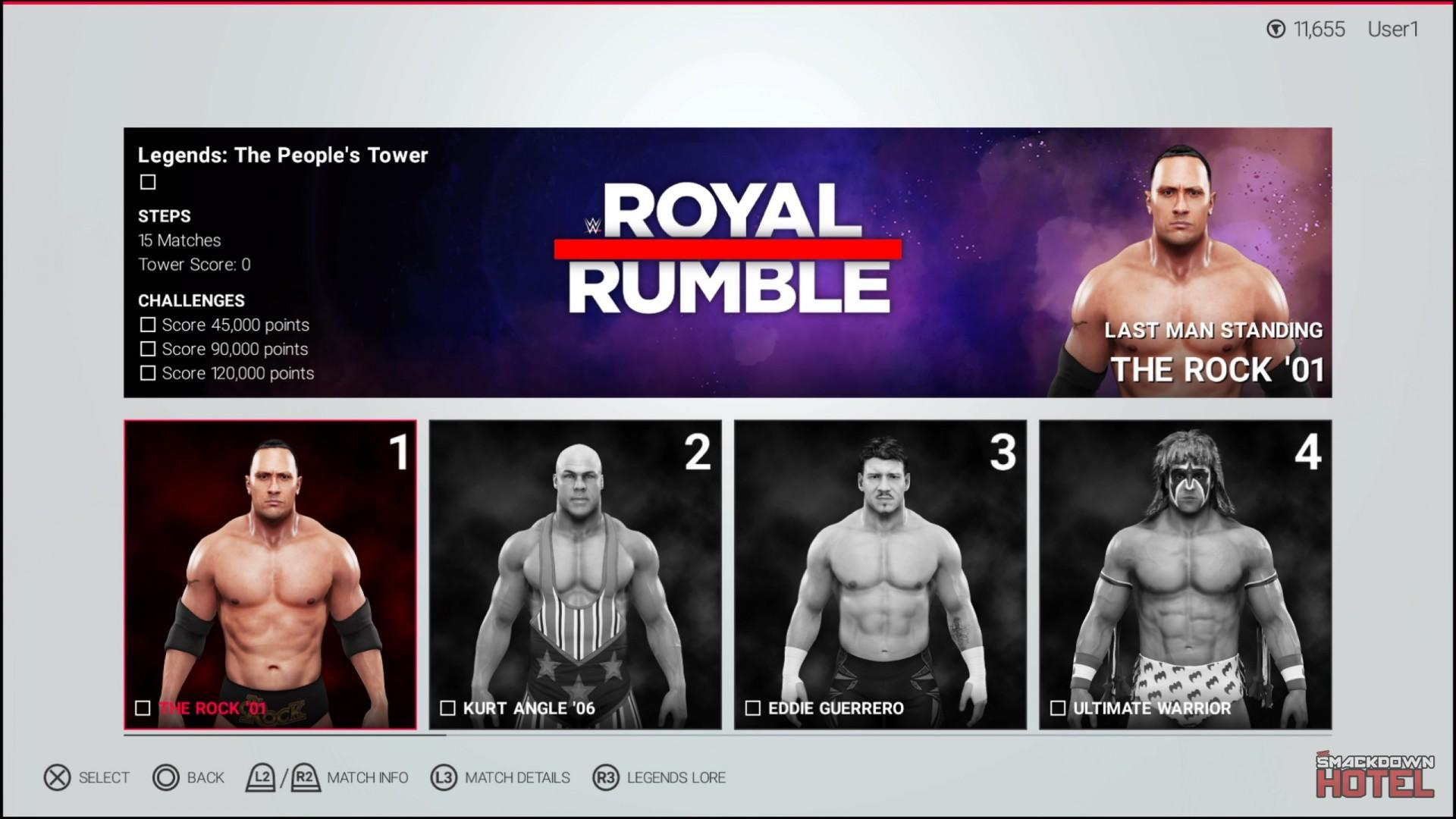 WWE 2K19 Towers Mode 2 Peoples Legends