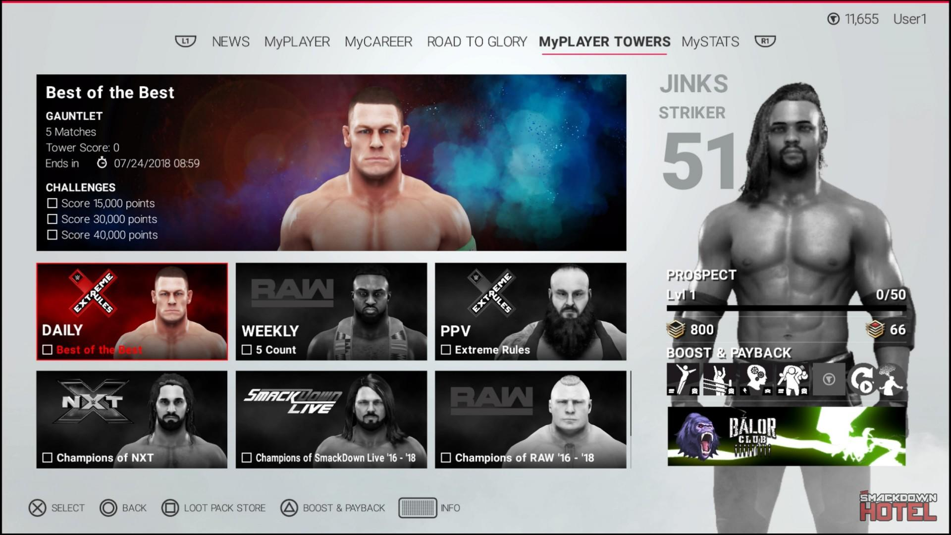 WWE 2K19 Towers Mode 5 MyPLAYER