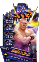SuperCard BrockLesnar S4 21 SummerSlam18