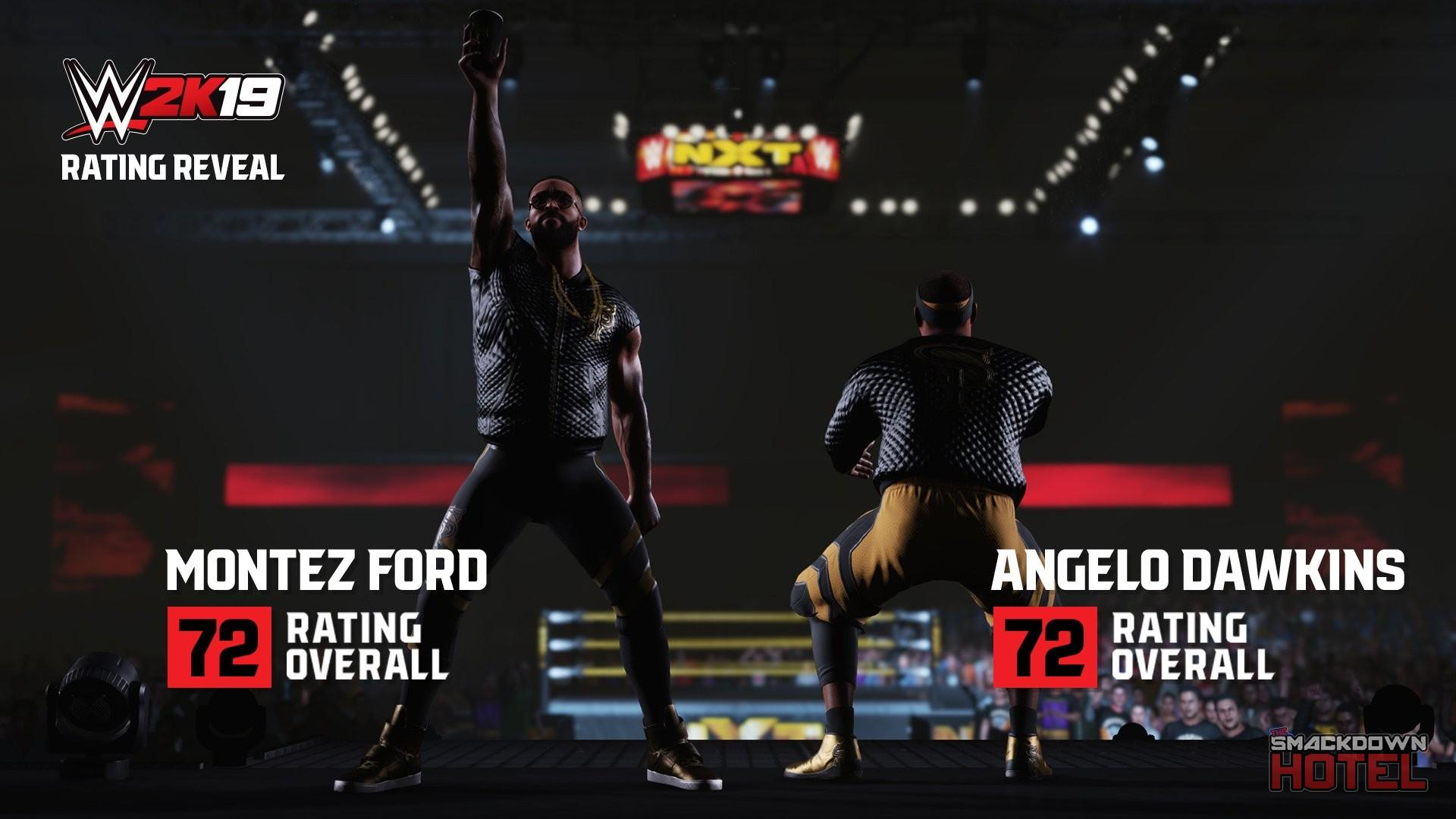WWE2K19 RatingReveal MontezFord AngeloDawkins