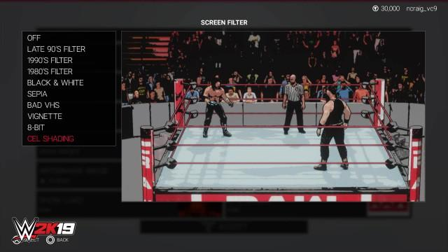 WWE2K19 CreationSuite CelShading