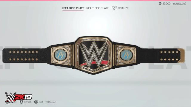 WWE2K19 Creation Championship Sideplate