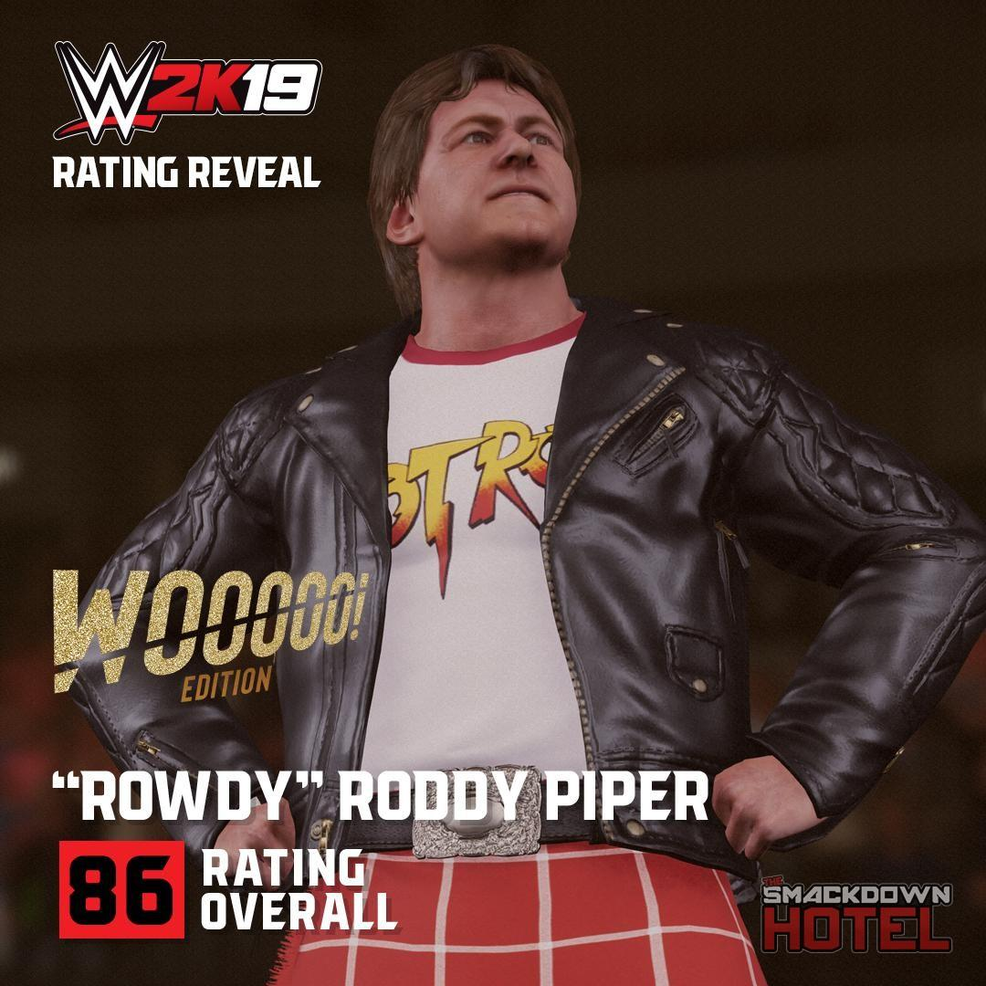 WWE2K19 RatingReveal RoddyPiper