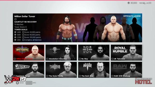 WWE 2K19 Towers Mode Guide: Full List & Details of 2K Towers & MyPLAYER Towers
