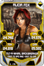 SuperCard AliciaFox S4 20 Goliath Throwback