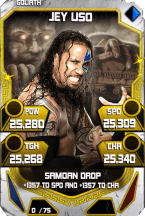 SuperCard JeyUso S4 20 Goliath Throwback