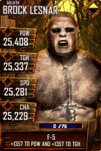 SuperCard BrockLesnar S4 20 Goliath Halloween