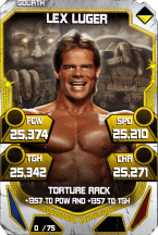 SuperCard LexLuger S4 20 Goliath Throwback