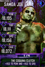 SuperCard SamoaJoe S4 19 WrestleMania34 Halloween