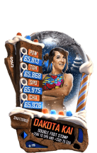 SuperCard DakotaKai S5 24 Shattered Christmas