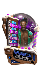 SuperCard KofiKingston S5 23 Neon Christmas
