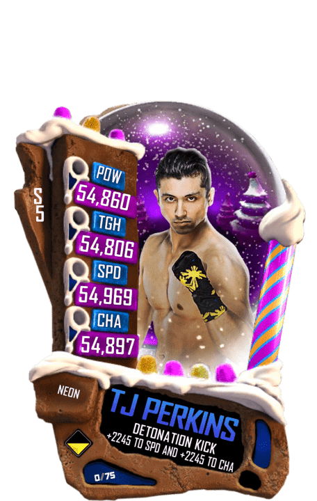 SuperCard TJPerkins S5 23 Neon Christmas