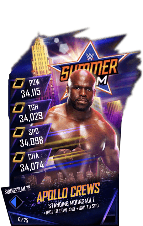 SuperCard ApolloCrews S4 21 SummerSlam18 Fusion