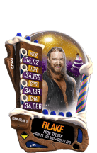 SuperCard Blake S5 21 SummerSlam18 Christmas