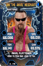 SuperCard JimNeidhart S5 24 Shattered Throwback