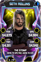 SuperCard SethRollins S5 23 Neon Throwback