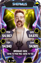 SuperCard Sheamus S5 23 Neon Throwback