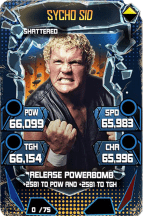 SuperCard SychoSid S5 24 Shattered Throwback