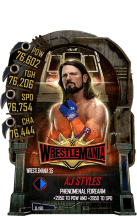 SuperCard AJStyles S5 25 WrestleMania35