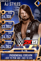 SuperCard AJStyles S4 21 SummerSlam18 WWE2K19
