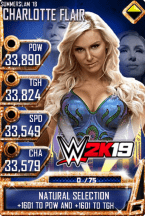 SuperCard CharlotteFlair S4 21 SummerSlam18 WWE2K19