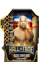 SuperCard Goldberg S5 25 WrestleMania35 HallOfFame