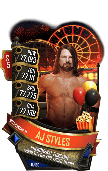 SuperCard AJStyles S5 25 WrestleMania35 Summer