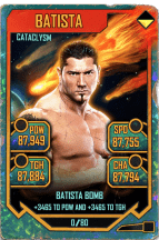SuperCard Batista S5 26 Cataclysm Throwback
