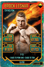 SuperCard BrockLesnar S5 26 Cataclysm Throwback