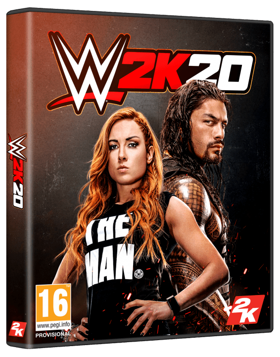 WWE 2K20 Official Cover - Becky Lynch & Roman Reigns