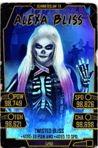 SuperCard AlexaBliss S5 27 SummerSlam19 Halloween