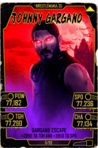 SuperCard JohnnyGargano S5 25 WrestleMania35 Halloween