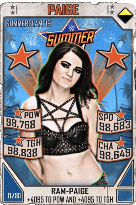 SuperCard Paige S5 27 SummerSlam19 Throwback
