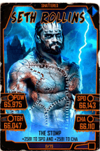 SuperCard SethRollins 24 Shattered Halloween
