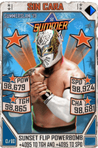 SuperCard SinCara S5 27 SummerSlam19 Throwback