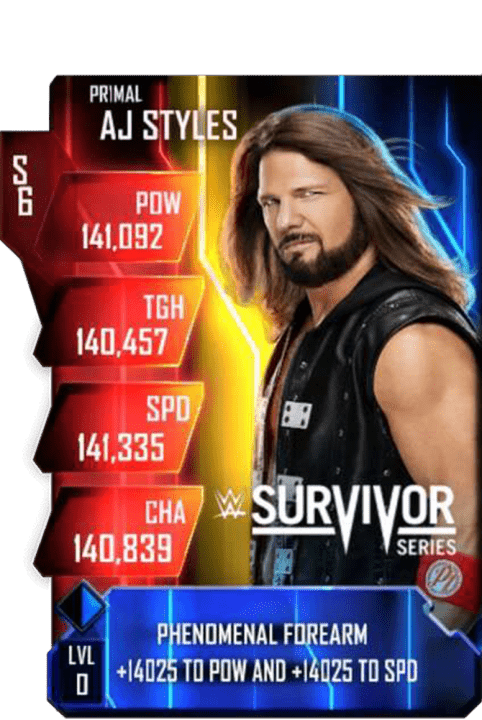 SuperCard AJStyles S6 29 Primal MITB