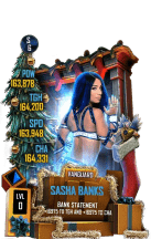 SuperCard SashaBanks S6 30 Vanguard Christmas