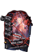 SuperCard BrockLesnar S6 31 RoyalRumble Event