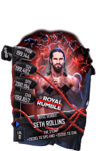 SuperCard SethRollins S6 31 RoyalRumble Event