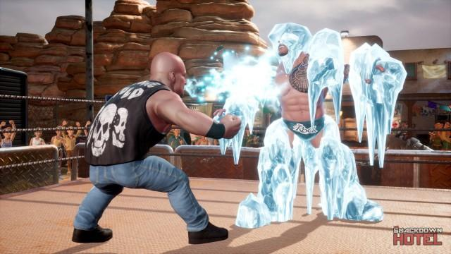 WWE2K Battlegrounds Austin Rock Ice Breath
