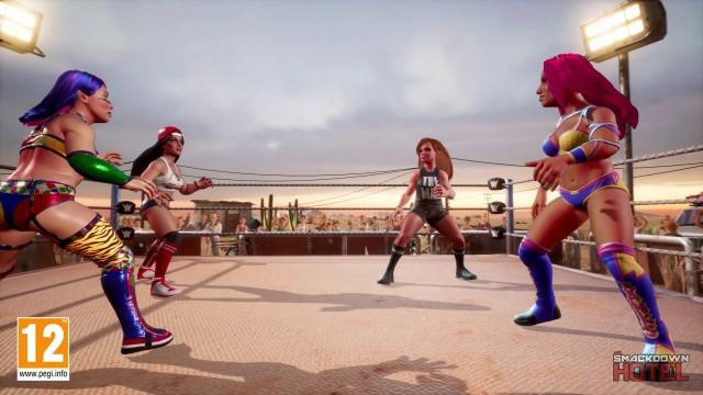 WWE 2K Battlegrounds Online Modes: Multiplayer Matches, King of the Battleground, Number of Players, Crossplay