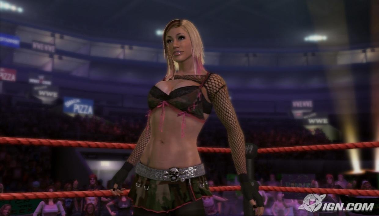 ashley - wwe smackdown vs  raw 2009