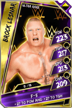 BrockLesnar - UltraRare (Loyalty PCC)